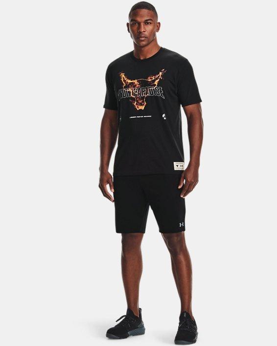 Men's Project Rock Fire Short Sleeve, Black, pdpMainDesktop image number 0