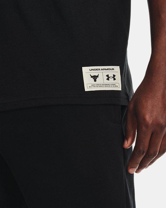 Men's Project Rock Fire Short Sleeve, Black, pdpMainDesktop image number 3
