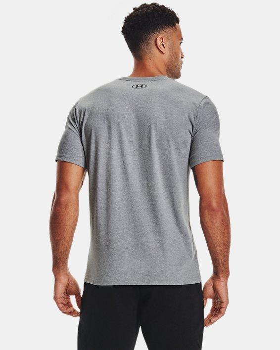 Men's Project Rock Brahma Bull Short Sleeve, Gray, pdpMainDesktop image number 1