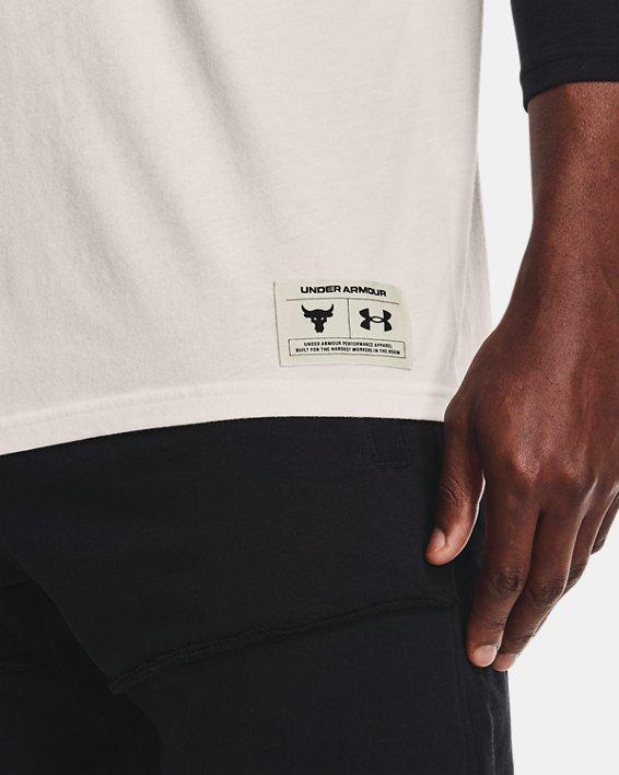 Men's Project Rock BSR ¾ Sleeve, White, pdpMainDesktop image number 3