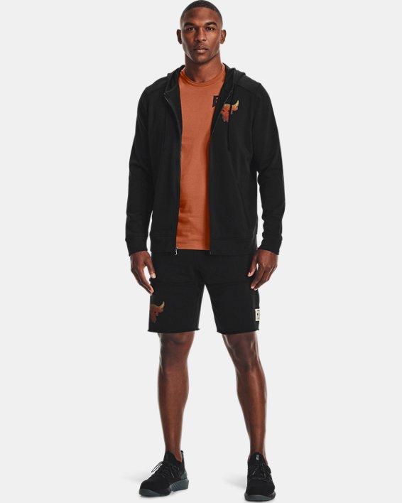 Men's Project Rock Terry Full Zip Hoodie, Black, pdpMainDesktop image number 0