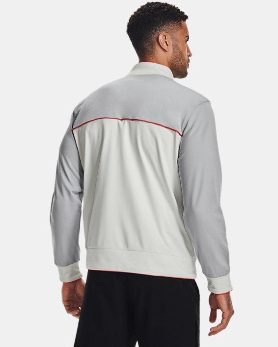 Men's Project Rock Knit Track Jacket, White, pdpMainDesktop image number 2