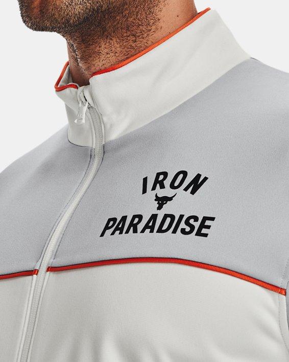 Men's Project Rock Knit Track Jacket, White, pdpMainDesktop image number 5
