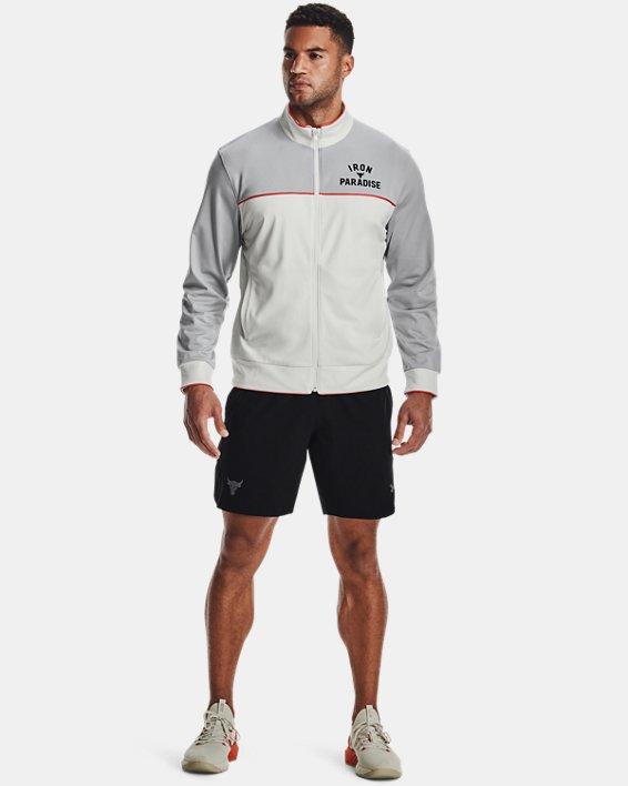 Men's Project Rock Knit Track Jacket, White, pdpMainDesktop image number 0