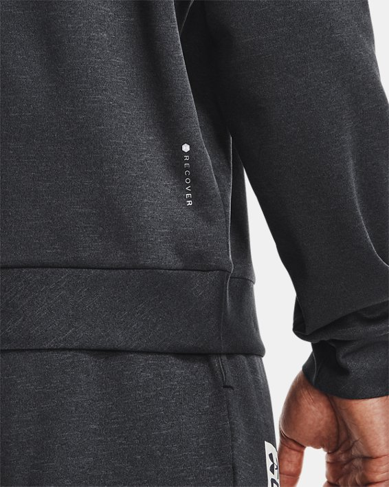 Men's UA RECOVER™ Crew Long Sleeve, Black, pdpMainDesktop image number 4