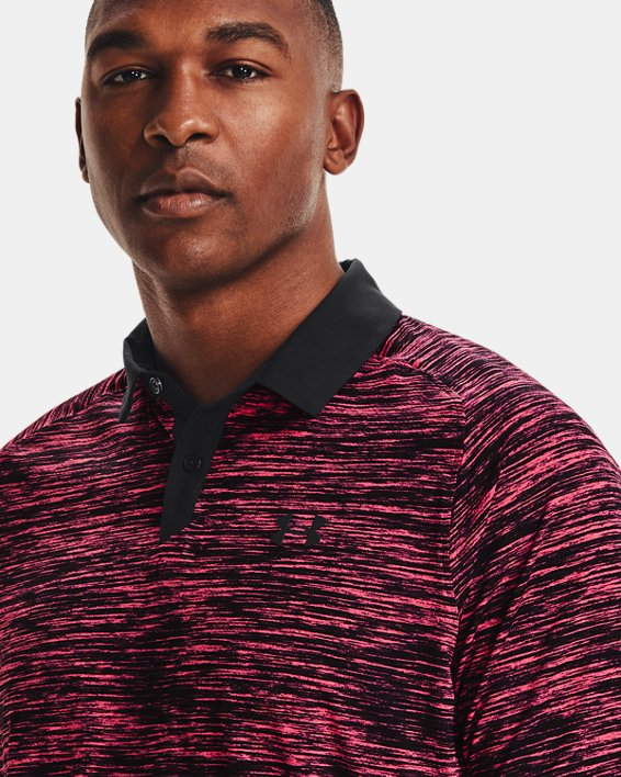 Men's UA Iso-Chill ABE Twist Polo, Pink, pdpMainDesktop image number 5