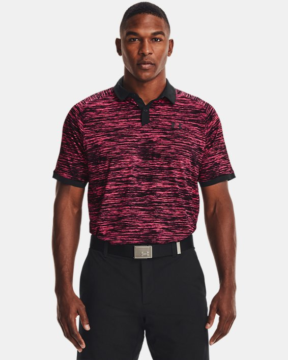 Men's UA Iso-Chill ABE Twist Polo, Pink, pdpMainDesktop image number 1