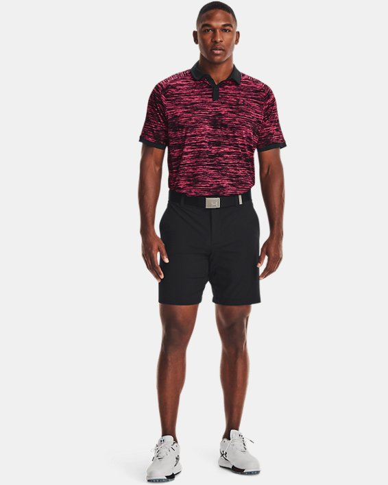 Men's UA Iso-Chill ABE Twist Polo, Pink, pdpMainDesktop image number 0