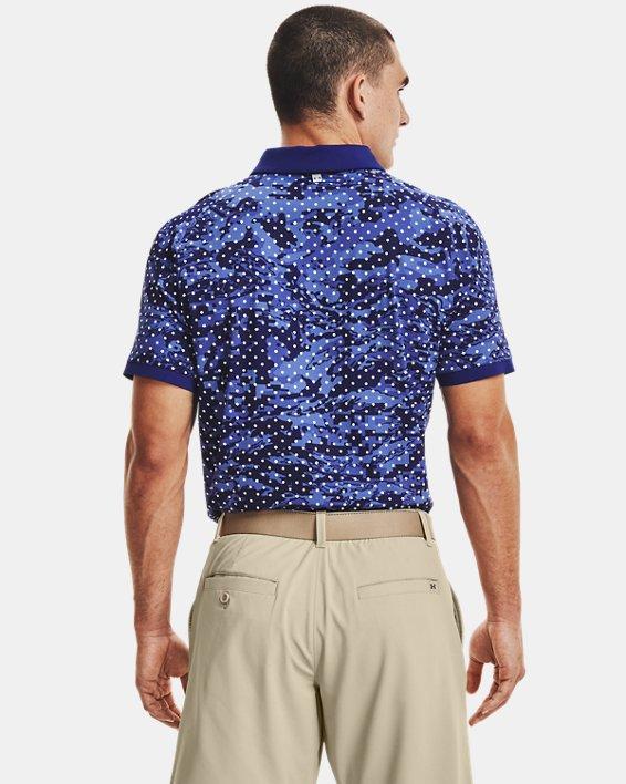 Men's UA Iso-Chill Penta Dot Polo, Blue, pdpMainDesktop image number 2
