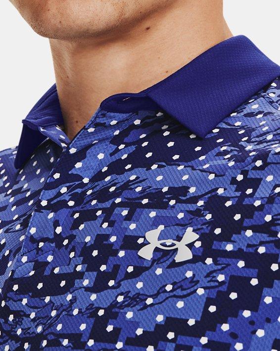 Men's UA Iso-Chill Penta Dot Polo, Blue, pdpMainDesktop image number 5