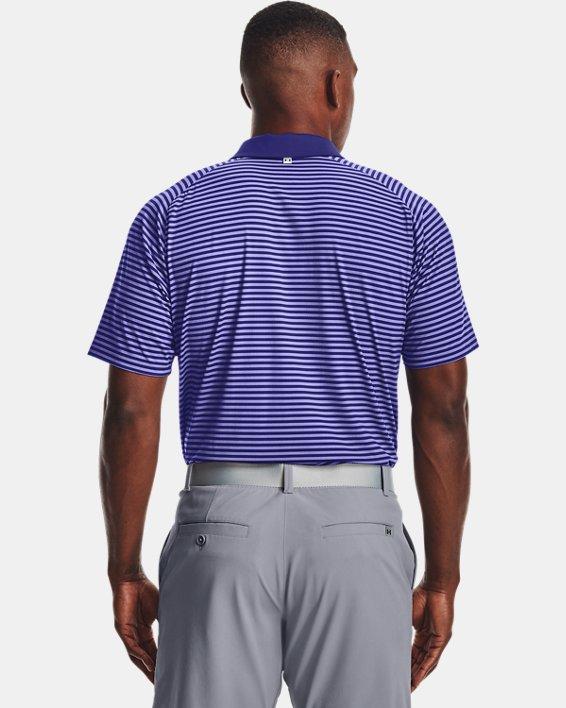 Men's UA Iso-Chill Hollen Stripe Polo, Blue, pdpMainDesktop image number 2
