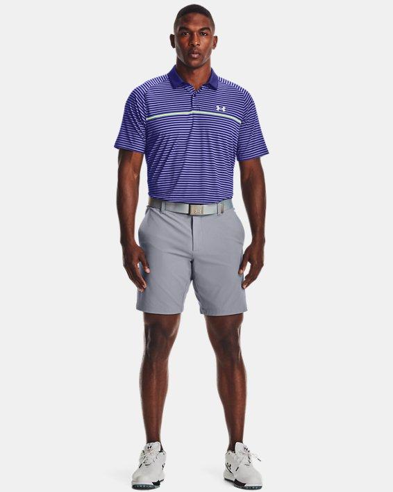 Men's UA Iso-Chill Hollen Stripe Polo, Blue, pdpMainDesktop image number 0