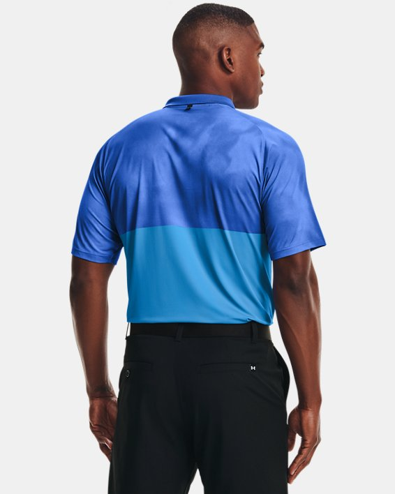 Men's UA Iso-Chill Afterburn Polo, Blue, pdpMainDesktop image number 2