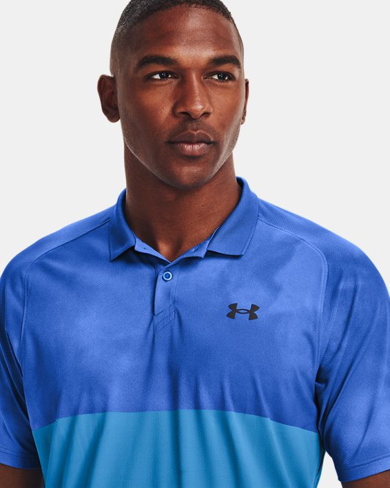 Men's UA Iso-Chill Afterburn Polo, Blue, pdpMainDesktop image number 5