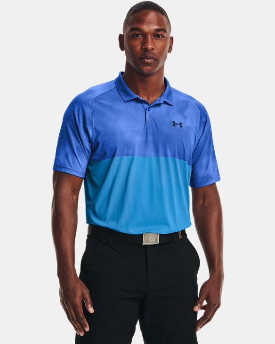 Men's UA Iso-Chill Afterburn Polo, Blue, pdpMainDesktop image number 1