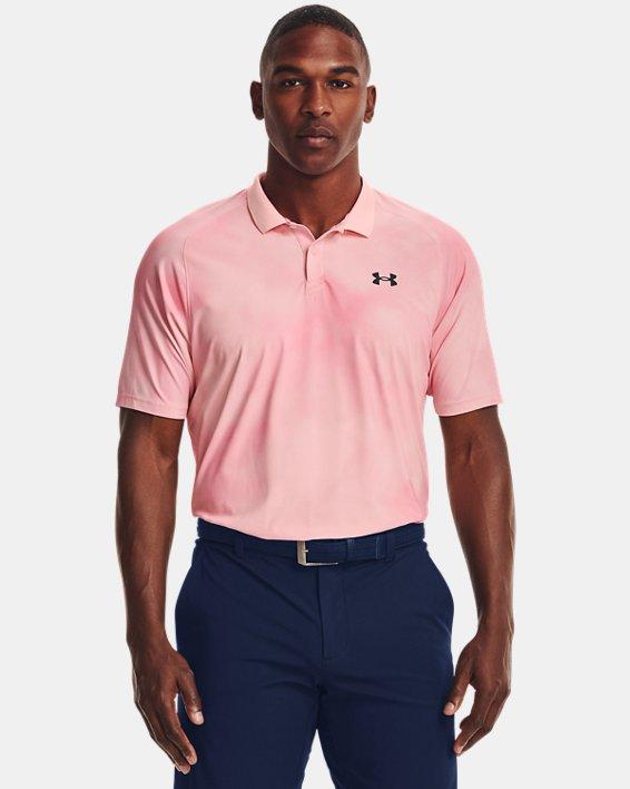 Herren UA Iso-Chill Afterburn Poloshirt, Pink, pdpMainDesktop image number 1