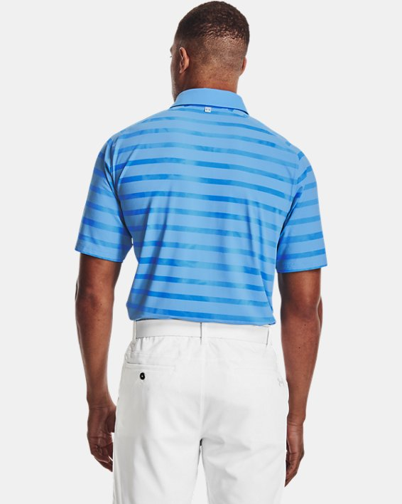 Men's UA Iso-Chill Floral Stripe Polo, Blue, pdpMainDesktop image number 2