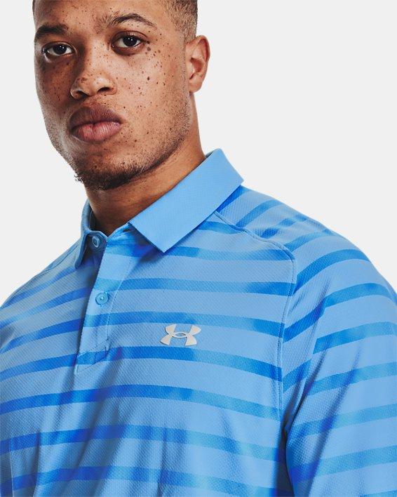 Men's UA Iso-Chill Floral Stripe Polo, Blue, pdpMainDesktop image number 5