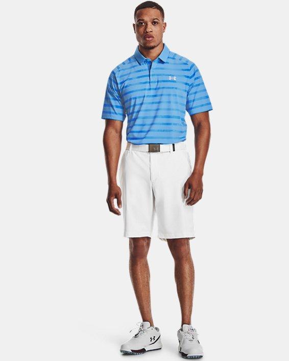 Men's UA Iso-Chill Floral Stripe Polo, Blue, pdpMainDesktop image number 0
