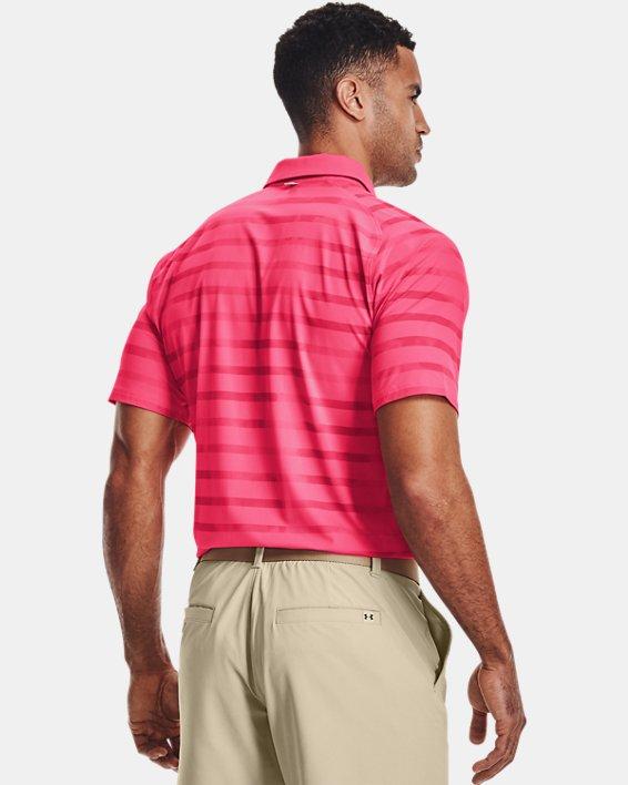 Men's UA Iso-Chill Floral Stripe Polo, Pink, pdpMainDesktop image number 2