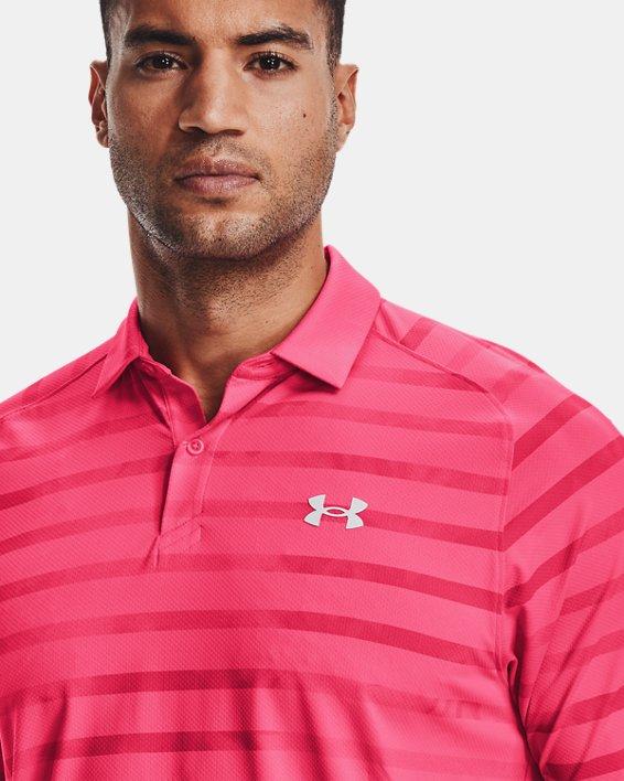 Men's UA Iso-Chill Floral Stripe Polo, Pink, pdpMainDesktop image number 5