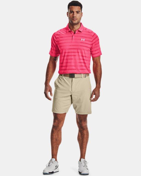Men's UA Iso-Chill Floral Stripe Polo, Pink, pdpMainDesktop image number 0
