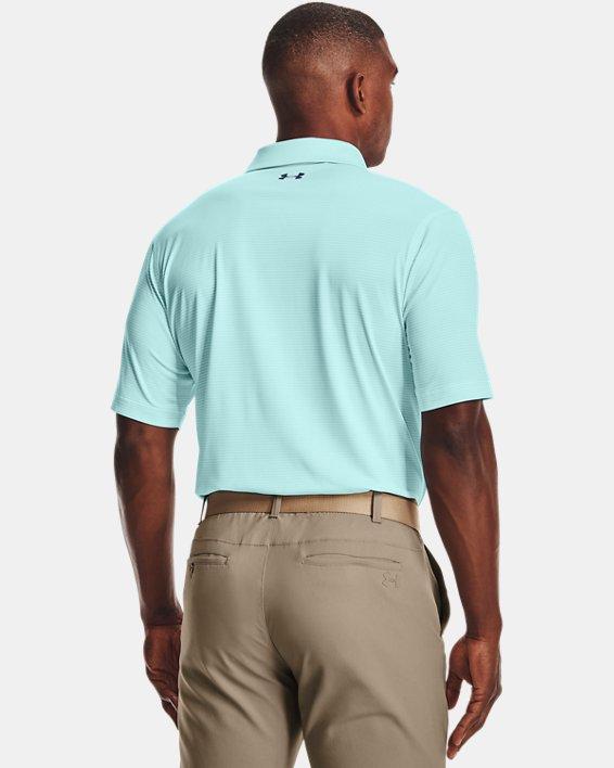 Men's UA Performance Stripe Polo, Blue, pdpMainDesktop image number 1