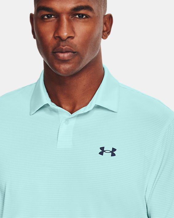 Men's UA Performance Stripe Polo, Blue, pdpMainDesktop image number 3