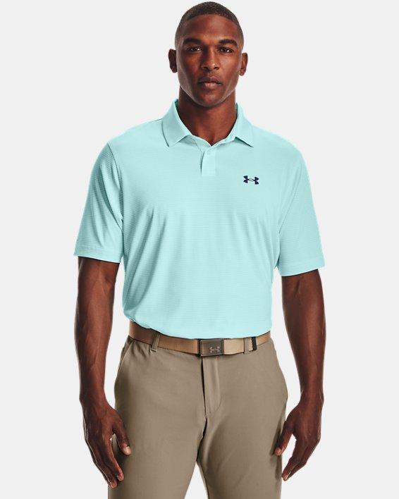 Men's UA Performance Stripe Polo, Blue, pdpMainDesktop image number 0