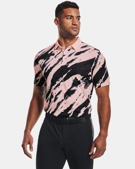 Men's Curry Vanish Printed Polo, Pink, pdpMainDesktop image number 1