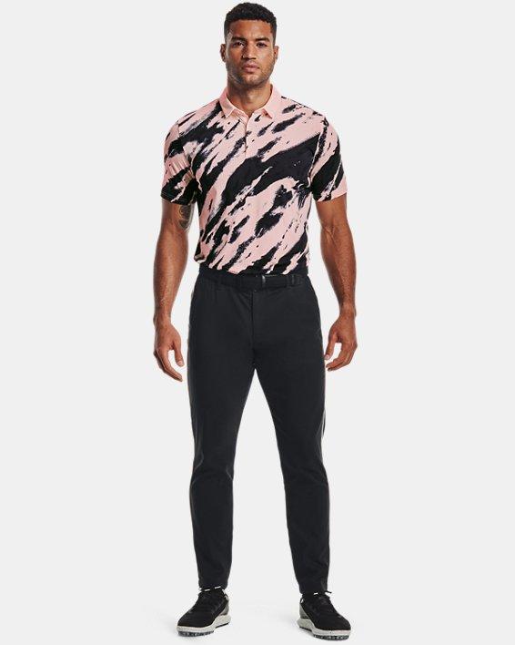 Men's Curry Vanish Printed Polo, Pink, pdpMainDesktop image number 0