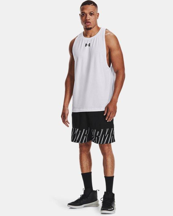 Men's UA Baseline Cotton Tank, White, pdpMainDesktop image number 0