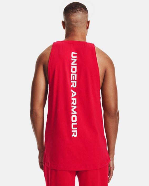 Men's UA Baseline Cotton Tank, Red, pdpMainDesktop image number 2