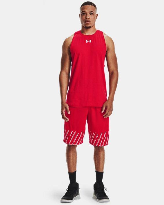 Men's UA Baseline Cotton Tank, Red, pdpMainDesktop image number 0