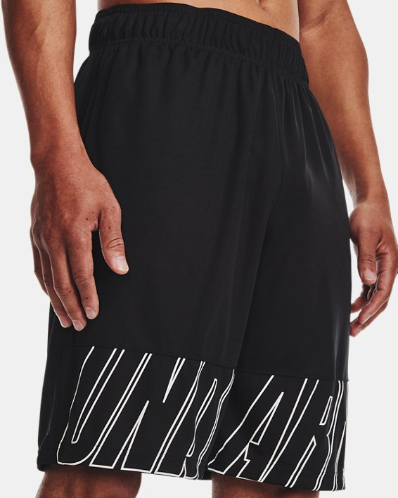 "Men's UA Baseline Speed 10"" Shorts, Black, pdpMainDesktop image number 3"