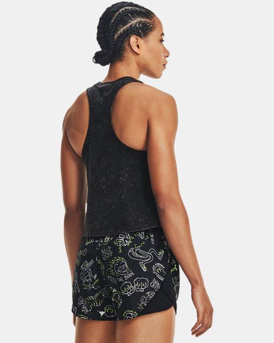 Women's UA Run Your Face Off Tank, Black, pdpMainDesktop image number 2
