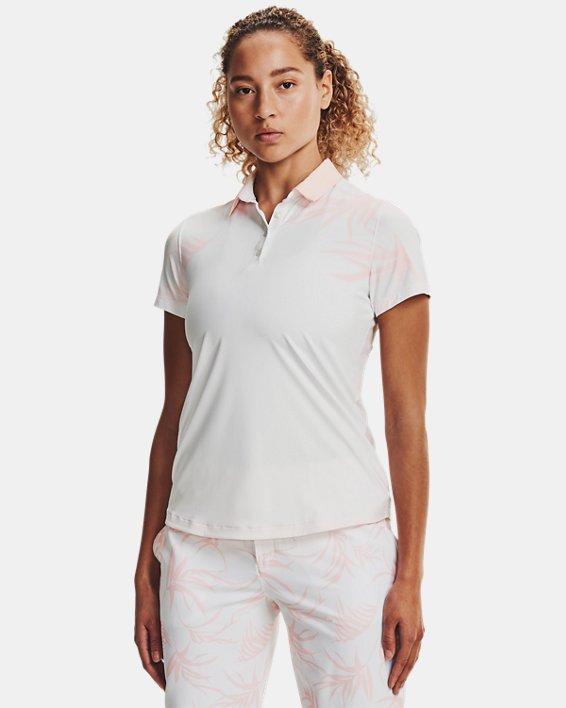 Women's UA Iso-Chill Short Sleeve Polo, White, pdpMainDesktop image number 1