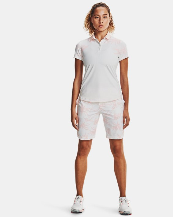 Women's UA Iso-Chill Short Sleeve Polo, White, pdpMainDesktop image number 0