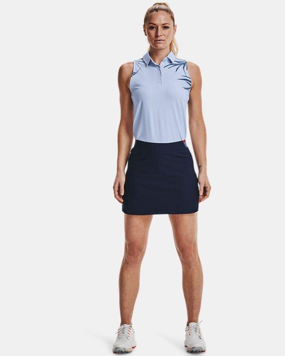 Women's UA Iso-Chill Sleeveless Polo, Blue, pdpMainDesktop image number 0