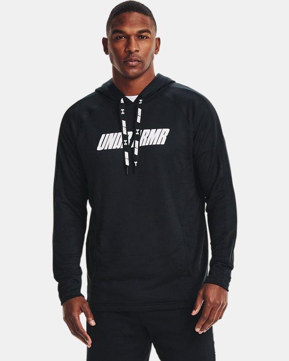 Men's UA Baseline Hoodie, Black, pdpMainDesktop image number 1