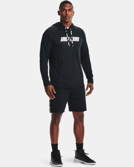 Men's UA Baseline Hoodie, Black, pdpMainDesktop image number 0