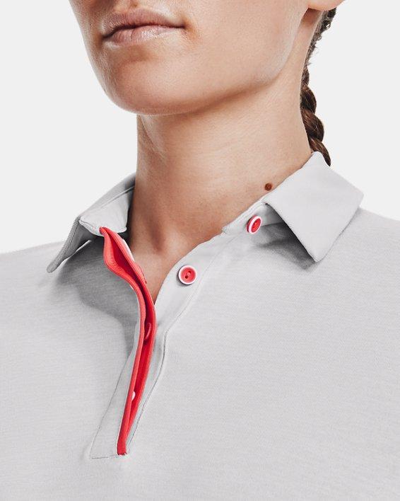 Women's UA Zinger Heathered Short Sleeve Polo, Gray, pdpMainDesktop image number 5