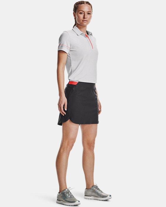 Women's UA Zinger Heathered Short Sleeve Polo, Gray, pdpMainDesktop image number 0