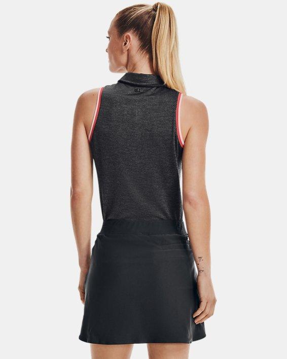 Women's UA Zinger Sleeveless Tipped Polo, Gray, pdpMainDesktop image number 2