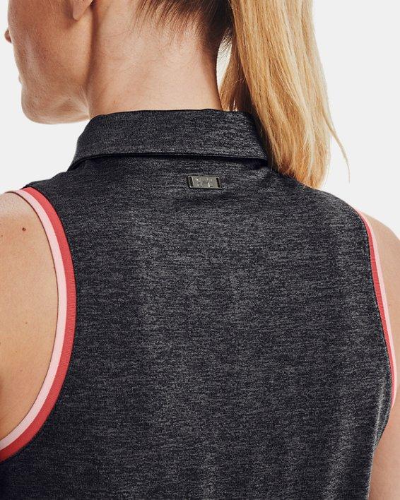 Women's UA Zinger Sleeveless Tipped Polo, Gray, pdpMainDesktop image number 5