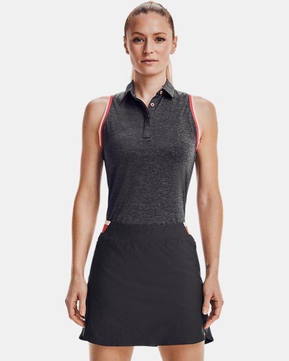 Women's UA Zinger Sleeveless Tipped Polo, Gray, pdpMainDesktop image number 1