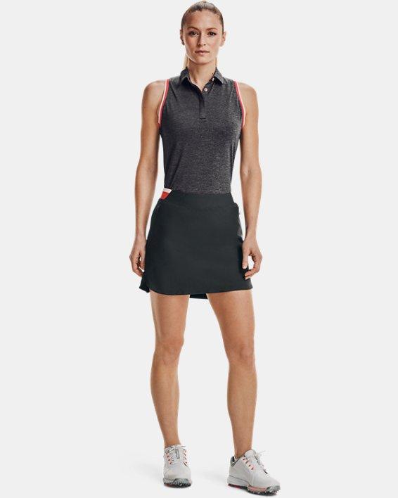 Women's UA Zinger Sleeveless Tipped Polo, Gray, pdpMainDesktop image number 0