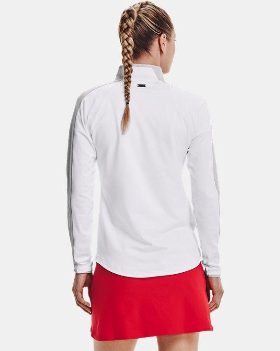 Damen UA Storm Midlayer mit ½ Zip, White, pdpMainDesktop image number 1