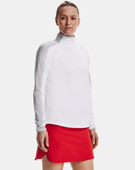 Damen UA Storm Midlayer mit ½ Zip, White, pdpMainDesktop image number 0