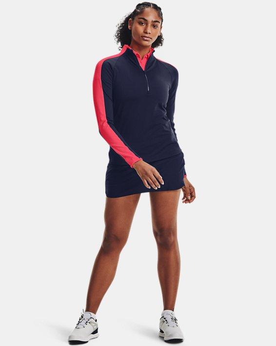 Women's UA Storm Midlayer ½ Zip, Navy, pdpMainDesktop image number 2